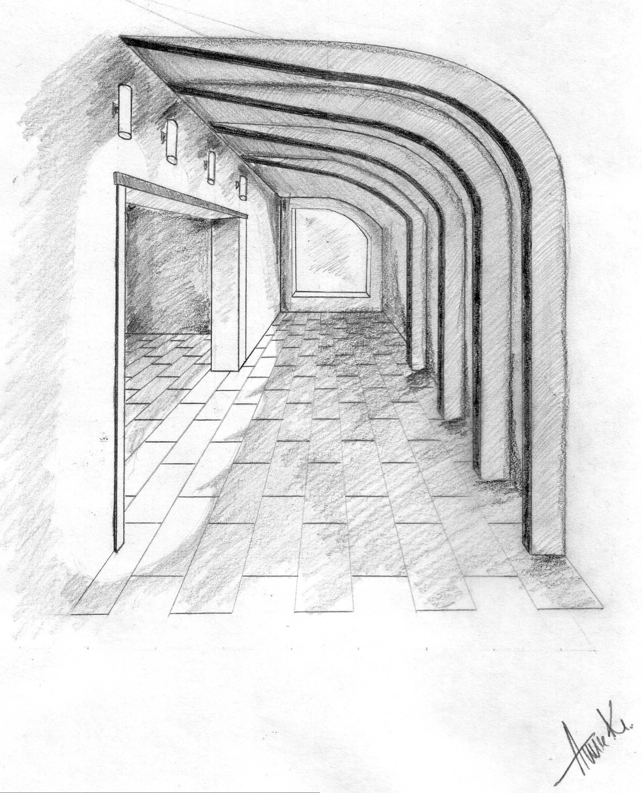 one point perspective