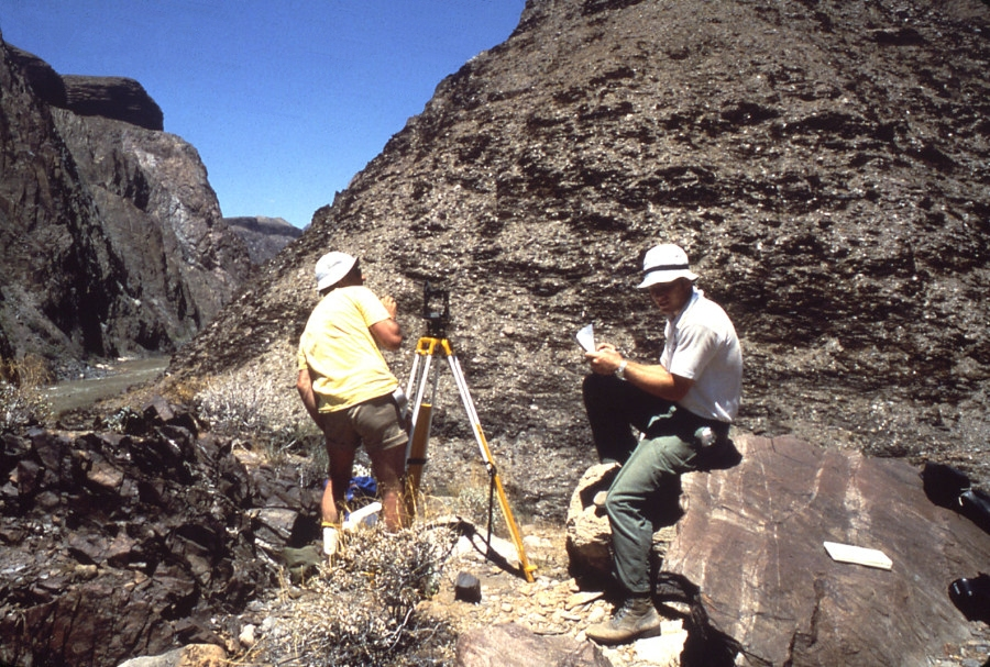 Failures At Clear Creek In The Granite Gorge Of Grand Canyon June July 1978 We Surveyed Toppling Complex Using Terrestrial Photogrammetry