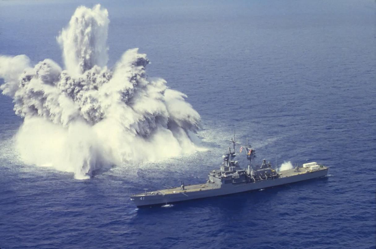 kaut kaads 'trieciena tests' pret USS Arkansas