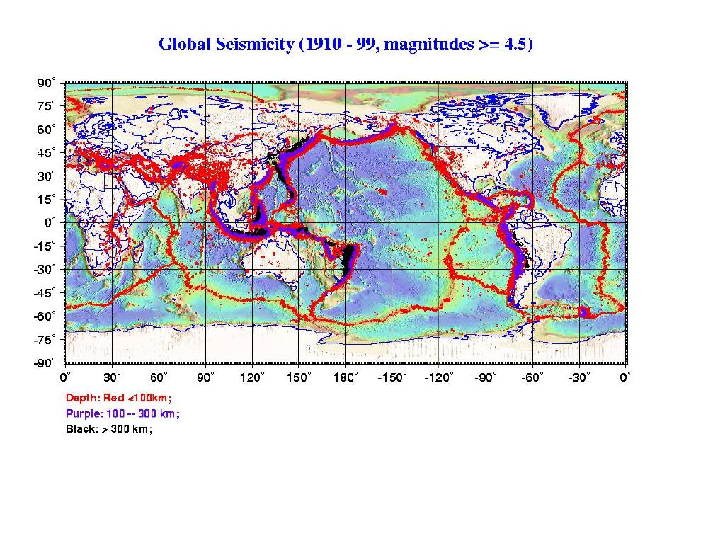 Multi media materials compiledcreated by dr steve gao for geol51 download a software package for earthquakevolcano display 19 shallow earthquakes occurred during 1970 2002 gumiabroncs Images