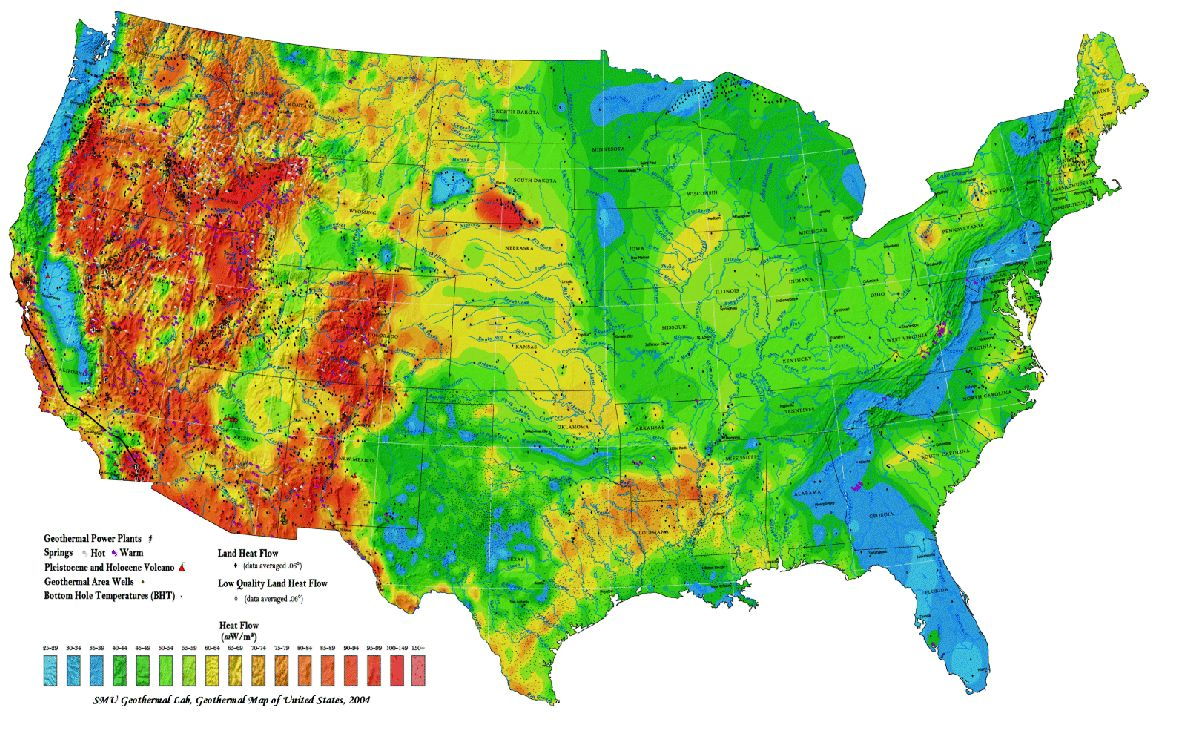 Elevation Map In Us - Elevation map of us