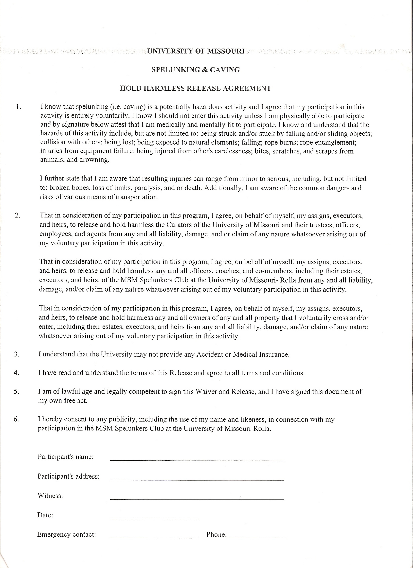 Awesome Hold Harmless Agreement Ideas - Office Resume Sample ...